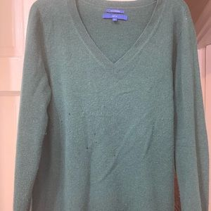 Apt 9 cashmere green tunic moth holes xl pre owned